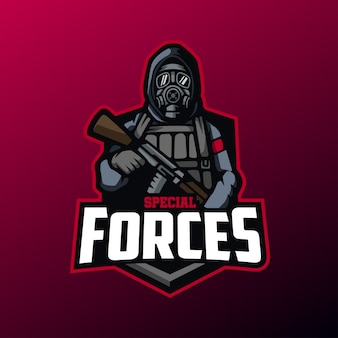 Special forces mascot for sports and esports logo