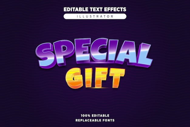 Special gift editable text effect