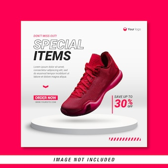 Special items social media banner template