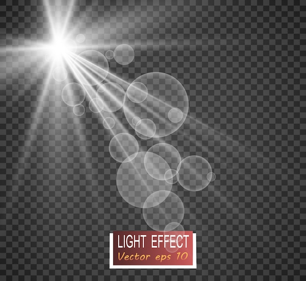 Special lens flash, light effect. flash flashes rays and searchlight.