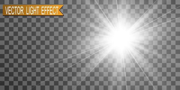 Специальная вспышка объектива, световой эффект. вспышка высвечивает лучи и прожектор. illust. белый светящийся свет. красивая звезда свет от лучей. солнце подсвечивается. яркая красивая звезда. солнечный свет. блики.