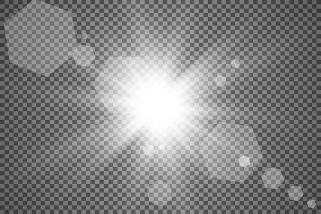 Special lens flash, light effect.