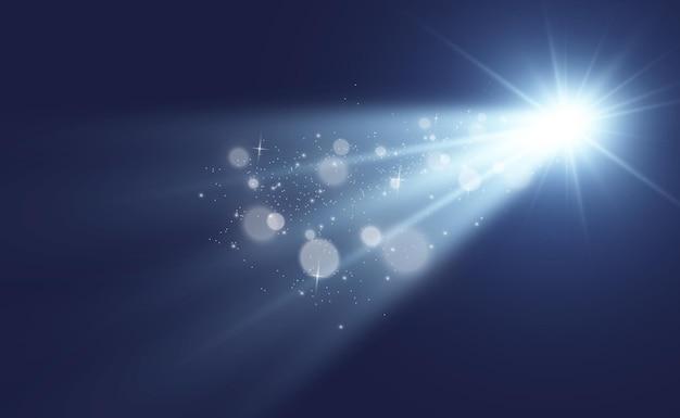 特殊レンズフラッシュ、ライト効果。