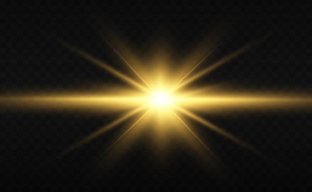 特殊レンズのフラッシュライト効果