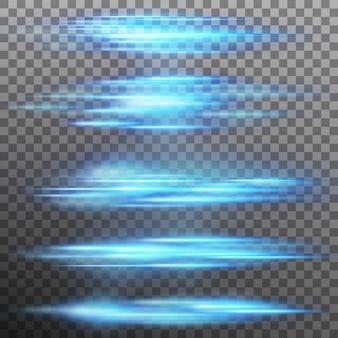 特殊な照明効果、フレア、照明。だけで透明な背景