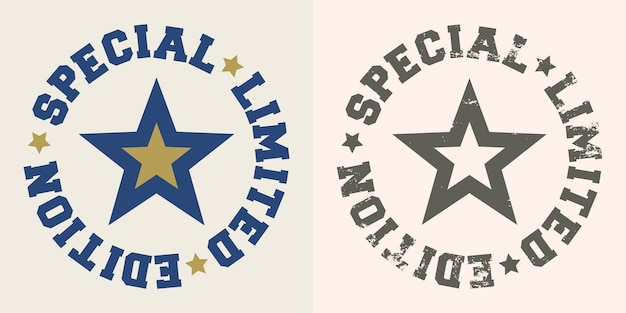 Special limited edition stamp with star.