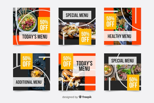 Special menu offers instagram post collection