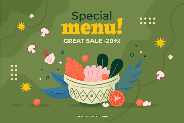 Special menu with discount template