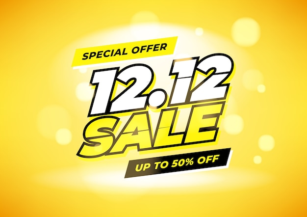 Special offer 12.12 shopping day sale poster or flyer design.