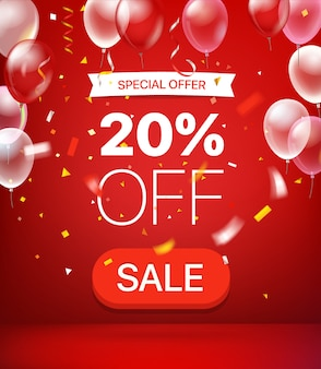 Special offer 20 percent off banner