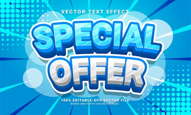 Special offer 3d text effect, editable text style and suitable for promotion sales