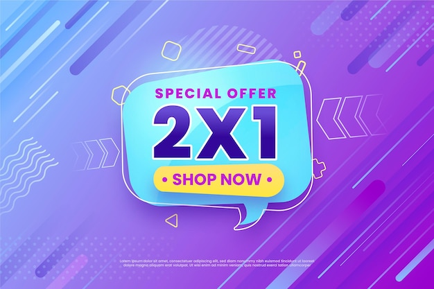 Special offer background shop now