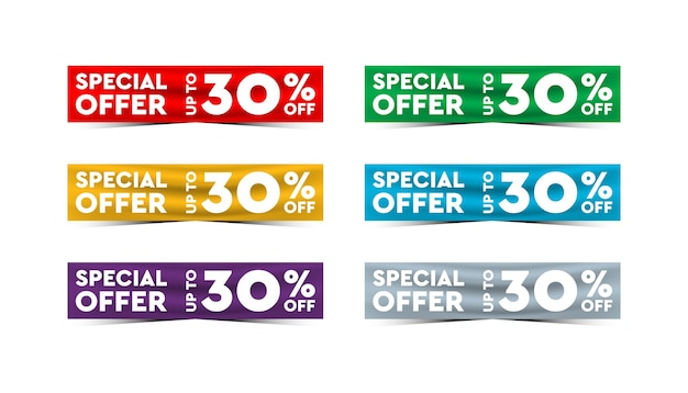Special offer background template.