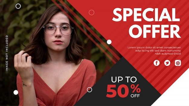 Special offer banner template. promotion sale banner for website, flyer and poster