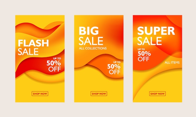Special offer banner templates collection