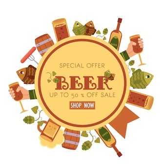 Special offer beer sale banner