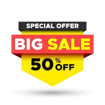 Special offer big sale banner.