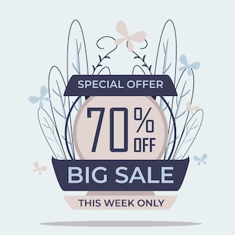 Special offer big sale discount badge sticker pastel color design vector for your promotion design