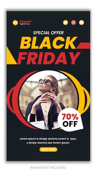 Special offer black friday instagram story template