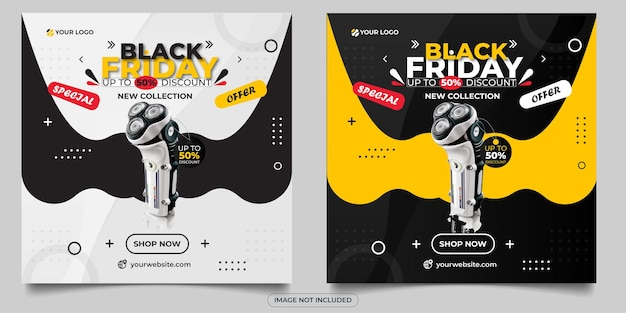 Special offer black friday social media post