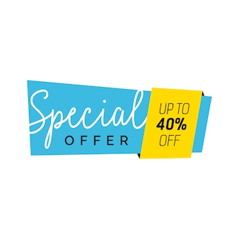 Special offer blue creative banner