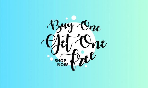 Special offer design with typography lettering on light blue background