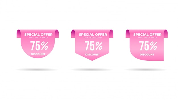 Special offer discount price label collection