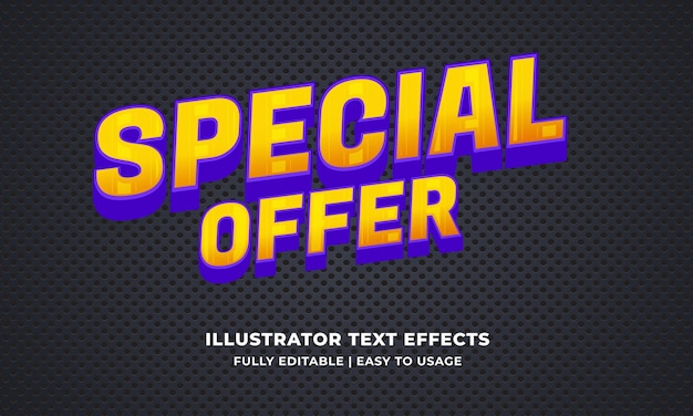 Special offer editable text effect