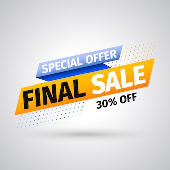 Special offer final sale banner.  illustration.