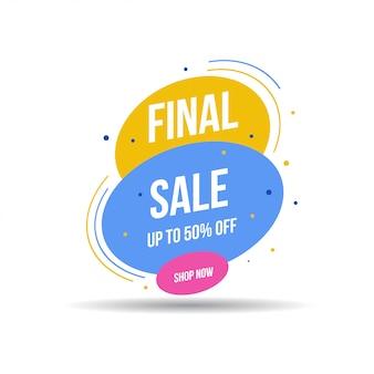Special offer final sale banner, up to 50% off. vector illustration