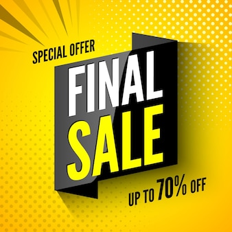Special offer final sale banner.