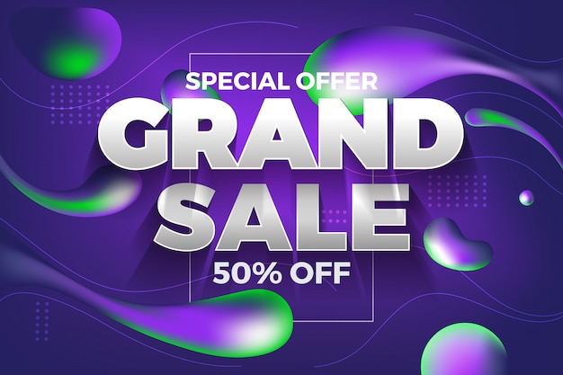Special offer grand sale banner and background