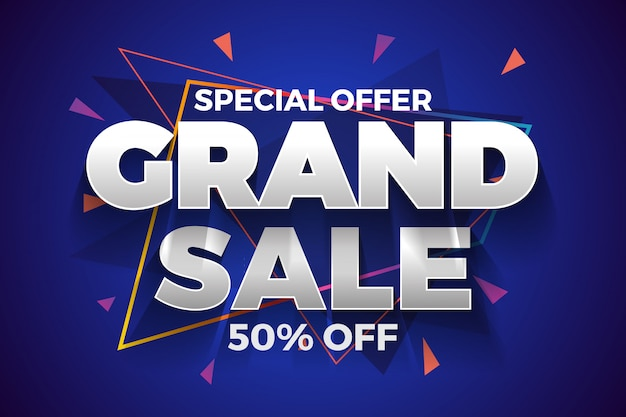 Special offer grand sale banner background