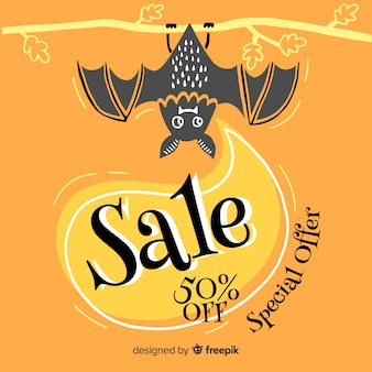 Special offer hand drawn halloween sale