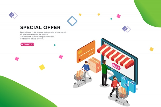 Special offer isometric design