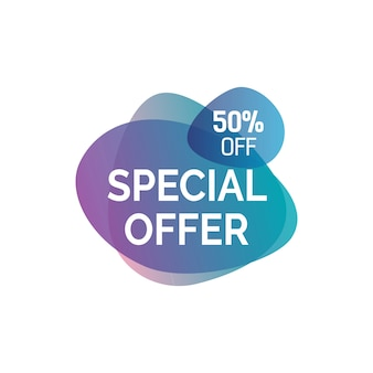 Special offer lettering on blots