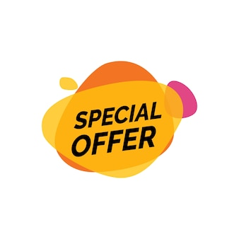 Special offer lettering on paint blots