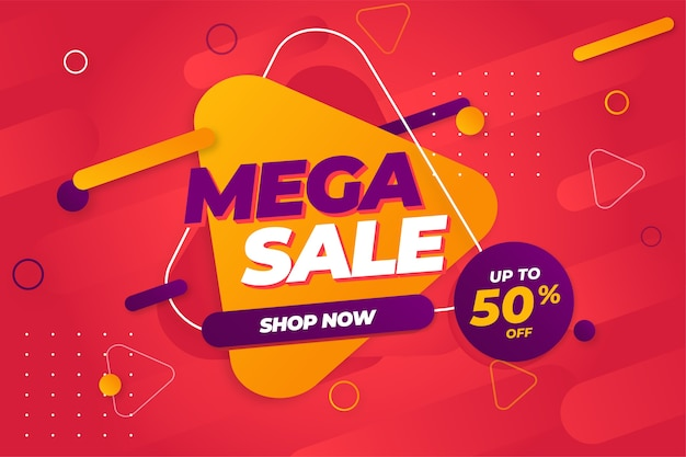 Special offer mega sale banner background template