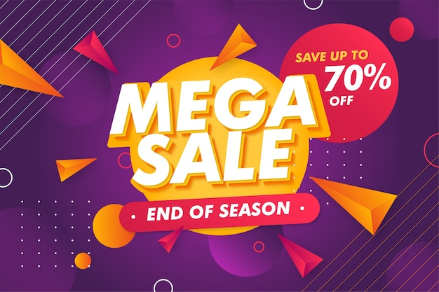 Special offer mega sale banner promotion template