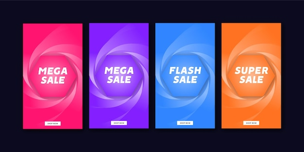 Special offer mega sale instagram and social media story template