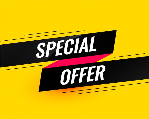 Special offer modern sale banner template