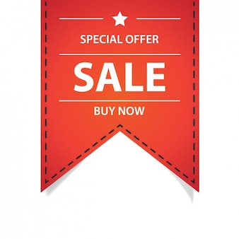 Special offer red ribbon