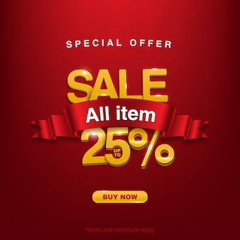Special offer sale all item up to 25%