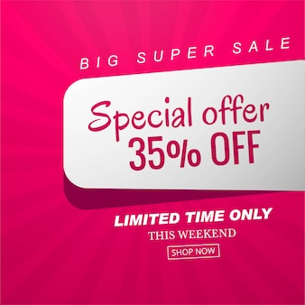Special offer sale banner background vector