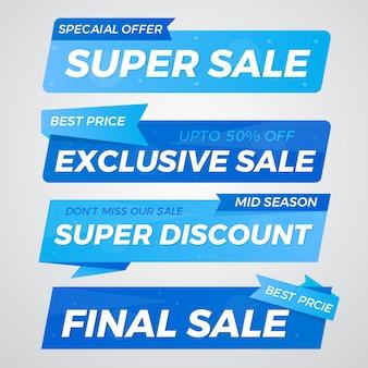 Special offer sale banner design set