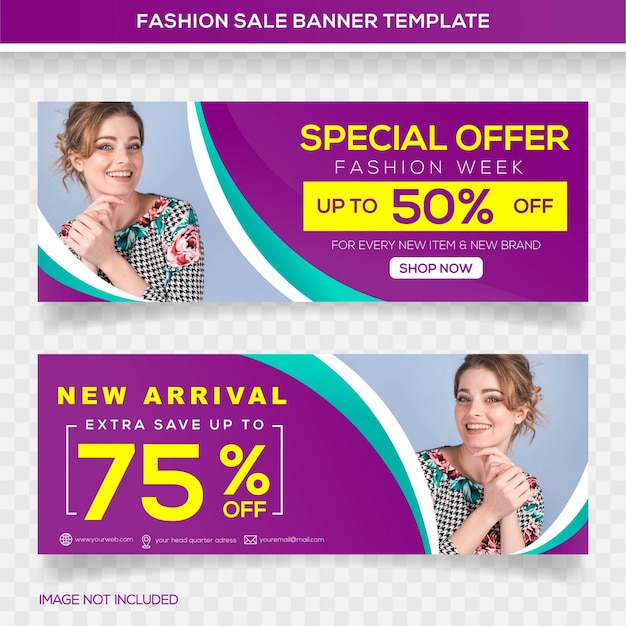 Special offer sale banner template design