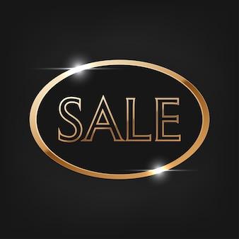 Special offer sale, golden text. sale vector lettering of gold on black background.