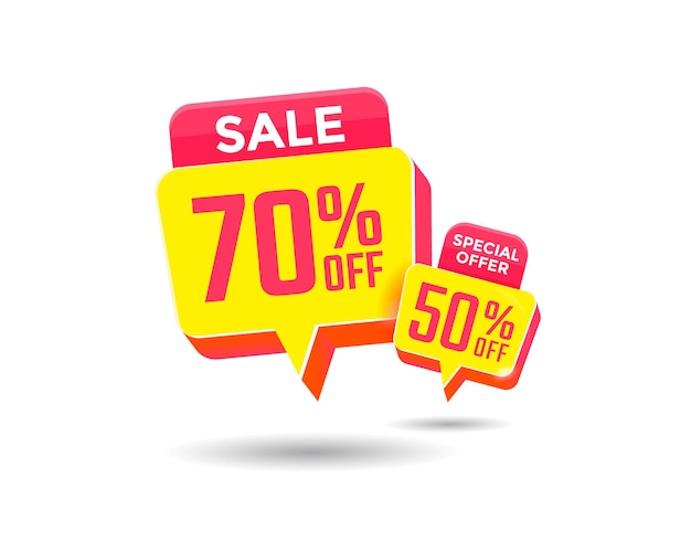 Special offer sale label. discount offer tag
