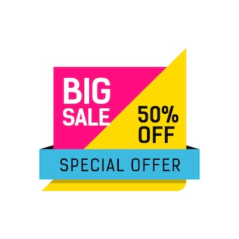 Special offer sale multicolored poster