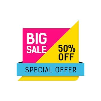 Manifesto multicolore di vendita offerta speciale